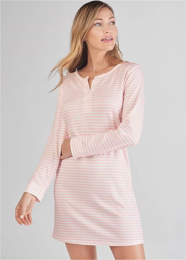 Henley Pullover Nightshirt