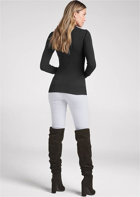 Back View Cutout Detail Sweater