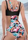 Detail back view Sports Illustrated Swim™ Sporty High Neck Monokini
