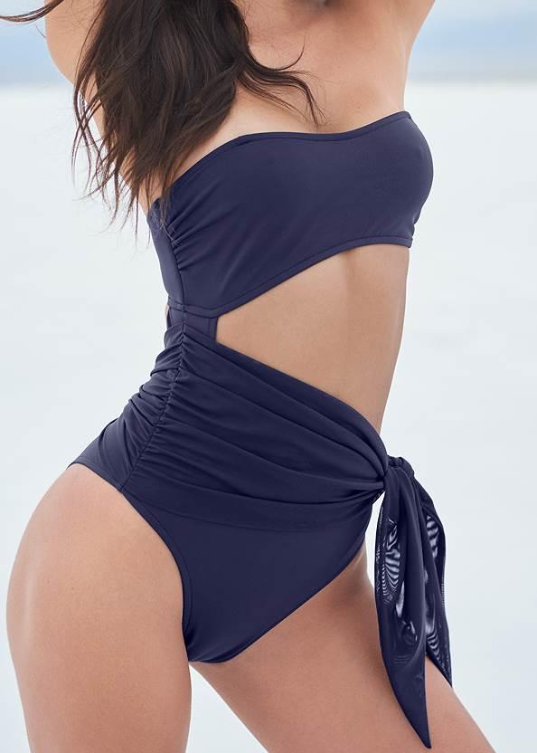 Detail front view Sports Illustrated Swim™ Sash Monokini