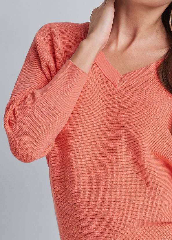 Alternate View V Neck Raglan Sweater