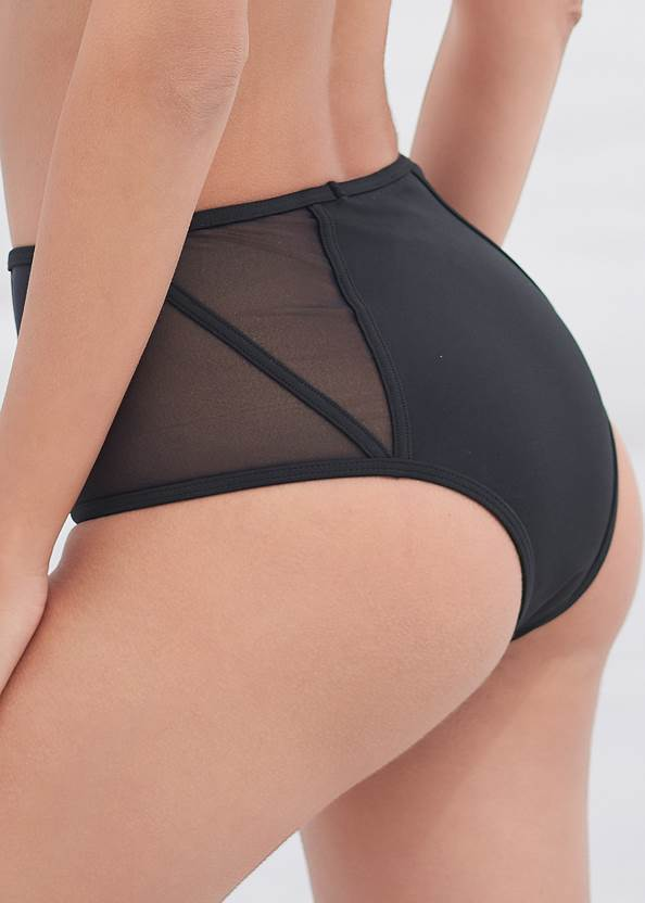 Detail back view Sports Illustrated Swim™ Cheeky High Rise Bottom