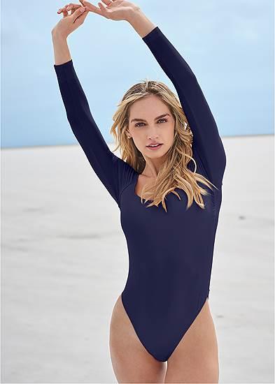 Sports Illustrated Swim™ Long Sleeve One-Piece