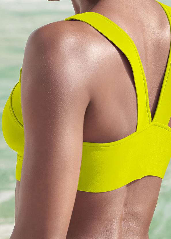 Detail back view Sports Illustrated Swim™ Front Close Triangle Top