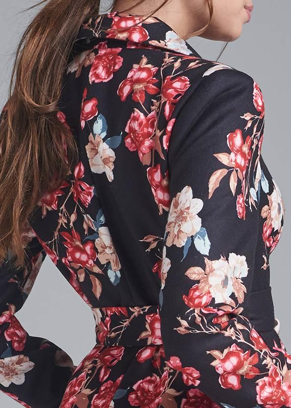 Alternate View Floral Print Coat