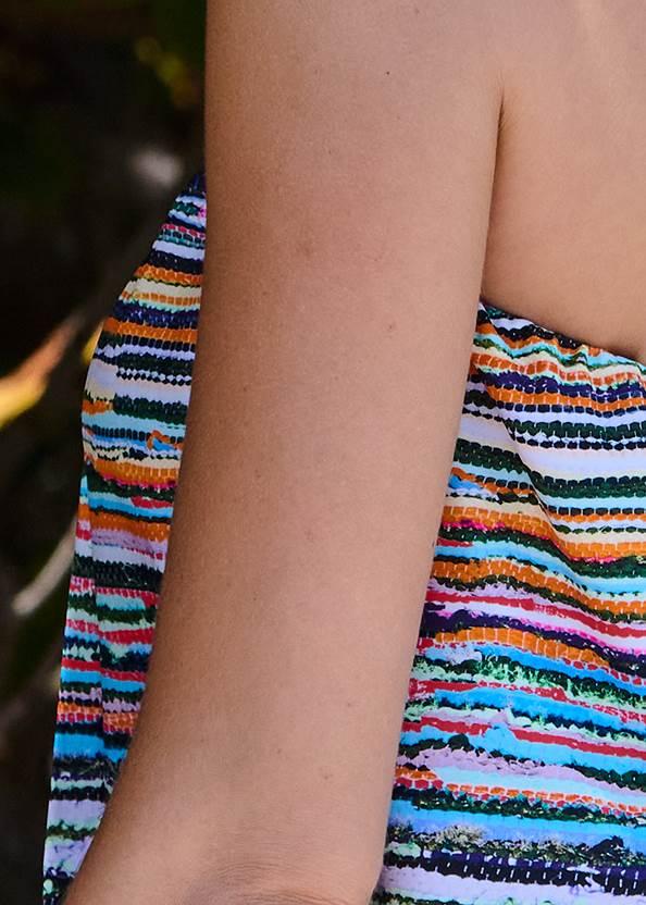 Detail back view Blouson Bandeau Tankini Top