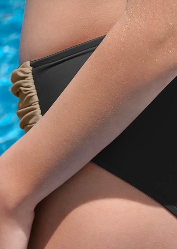 Detail back view Faux Wrap Waist Bottom