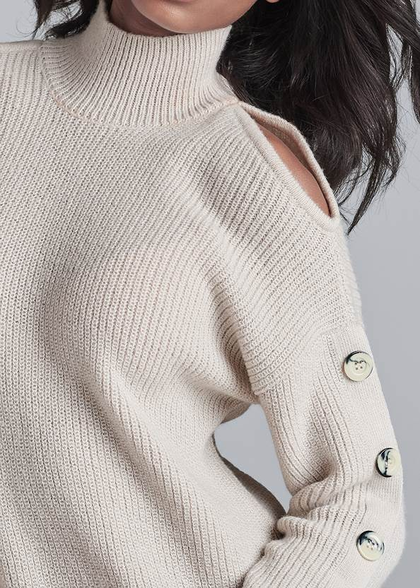 Alternate View Cold Shoulder Sweater