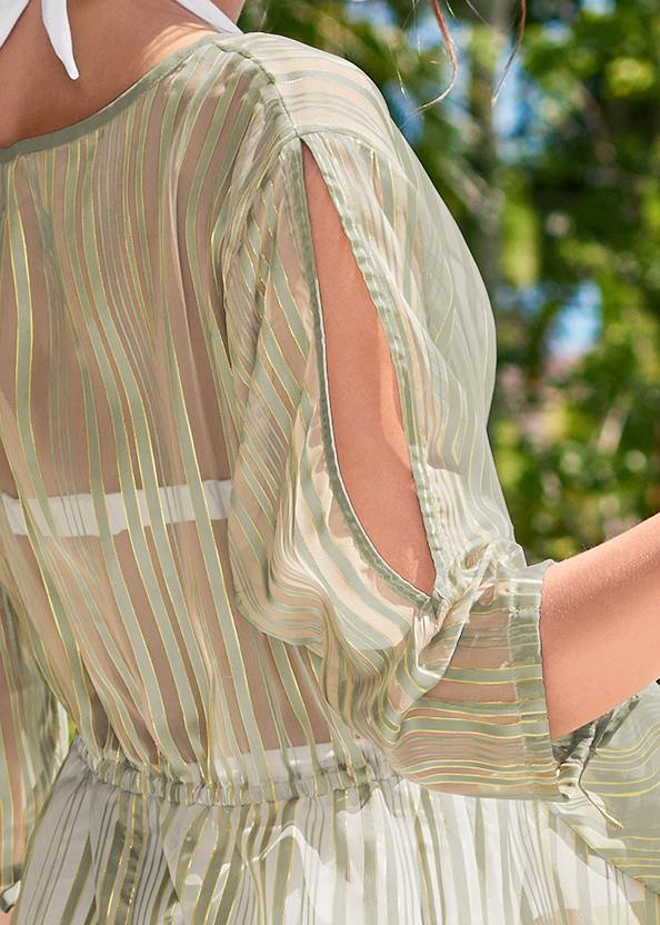 Alternate View Glitter Lurex Coverup Dress