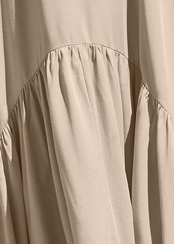 Detail front view Sports Illustrated Swim™ Flowing Maxi Dress