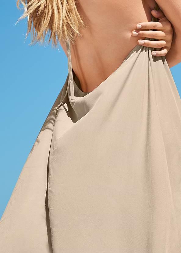 Detail back view Sports Illustrated Swim™ Flowing Maxi Dress
