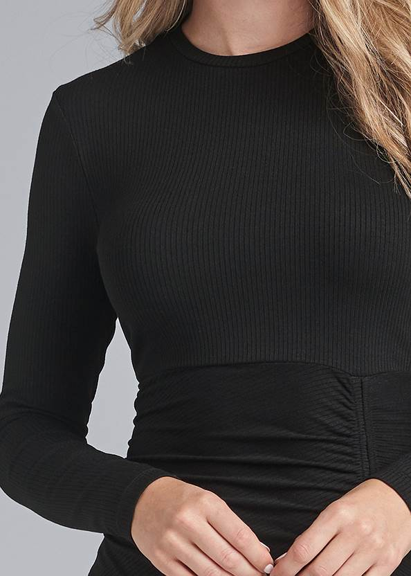 Alternate View Ruched Casual Dress