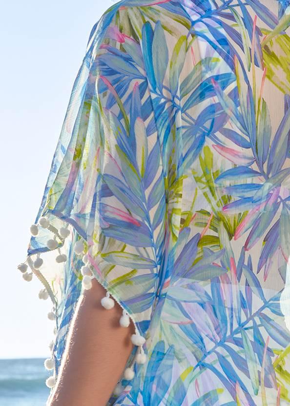 Detail back view Pom-Pom Fringe Cover-Up