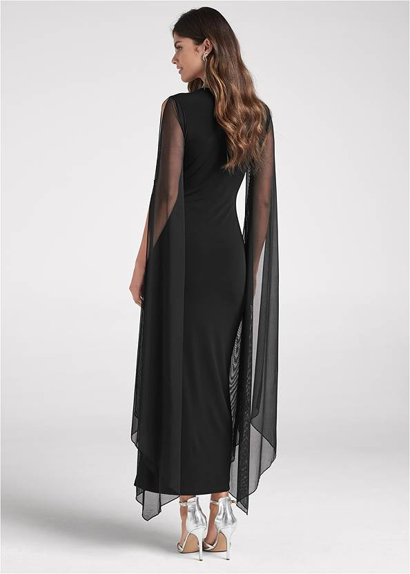 Back View Exaggerated Sleeve Dress