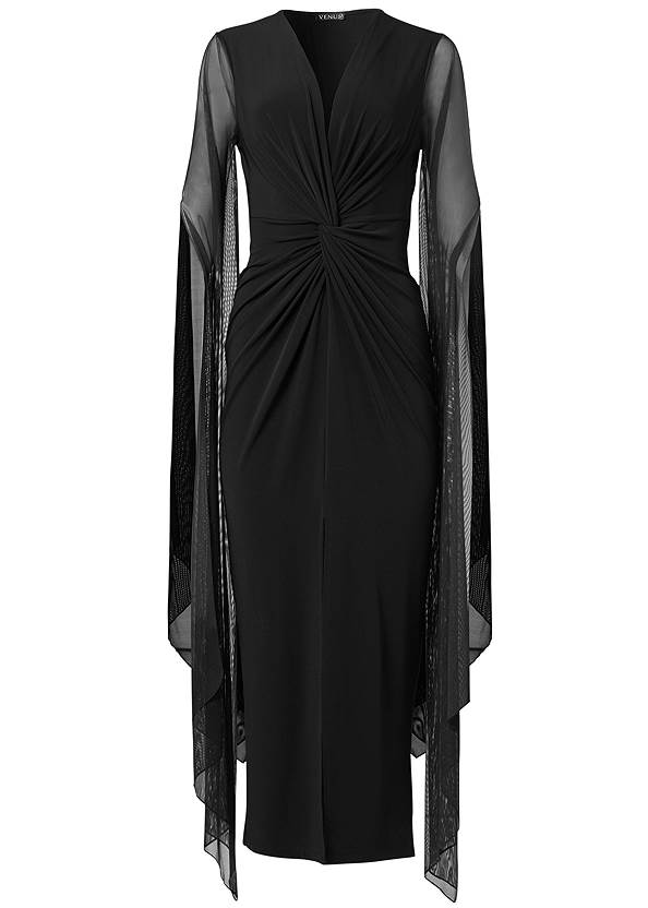 Ghost with background  view Exaggerated Sleeve Dress