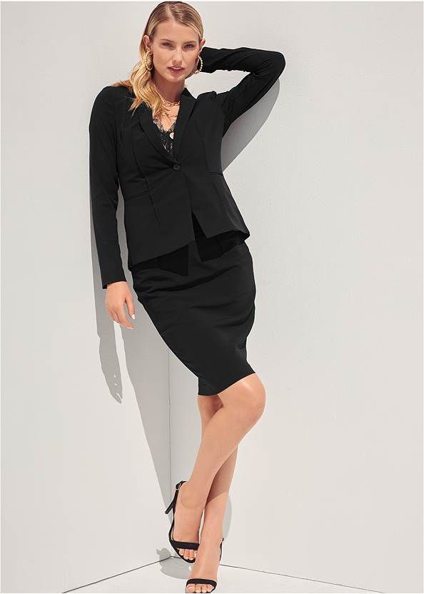 Alternate View Pencil Skirt Suit Set