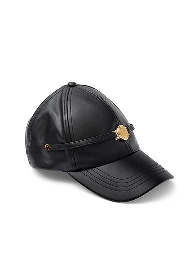Gold Coin Faux Leather Hat