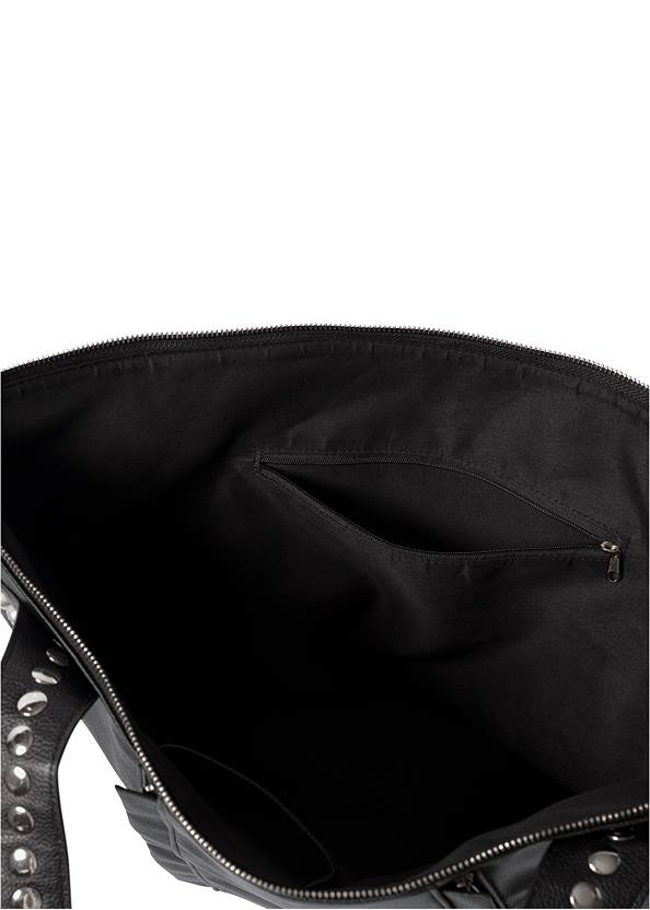 Alternate View Studded Faux Leather Tote