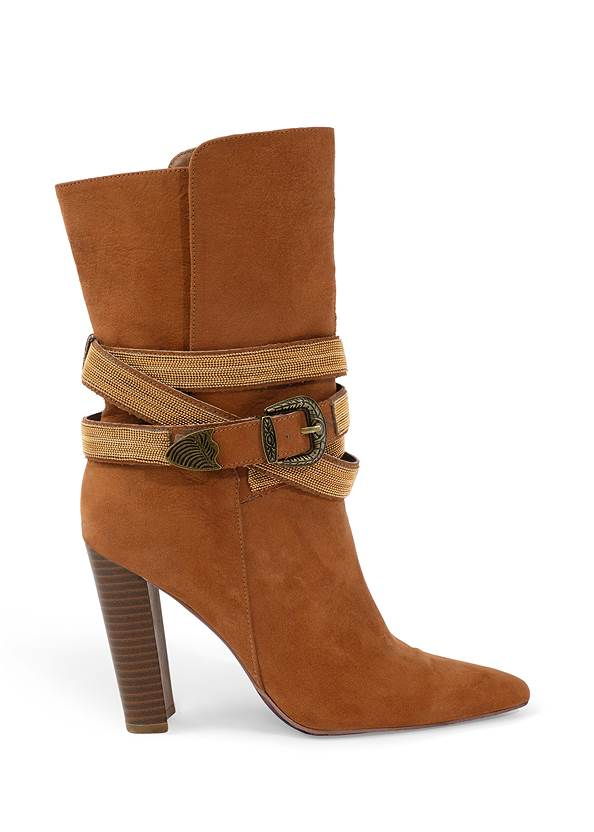 Alternate View Western Buckle Wrap Boots