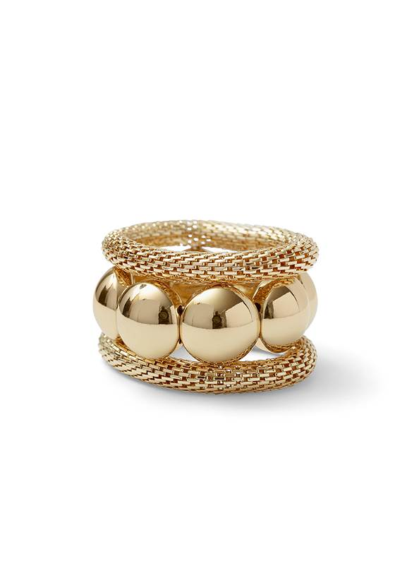 Chunky Stretch Bracelet Set,Embroidered Denim Dress,Hammered Fringe Earrings