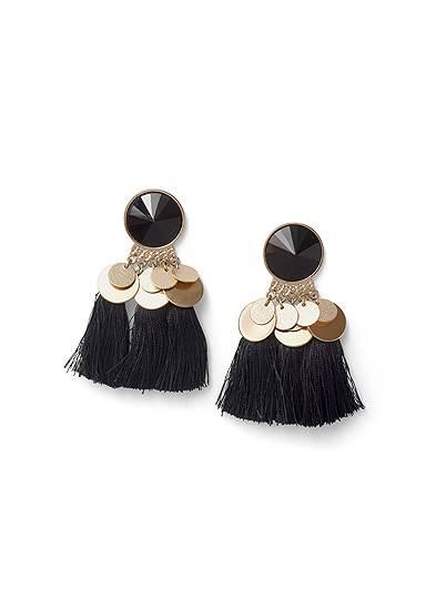 Coin Tassel Earrings