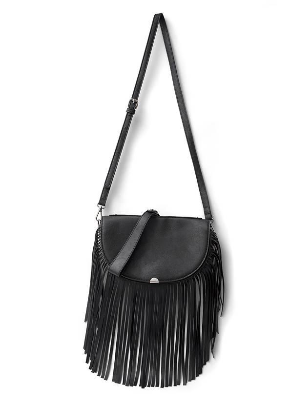 Alternate View Fringe Wristlet Bag