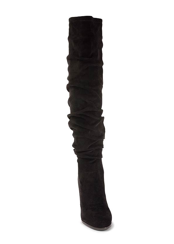 Alternate View Slouchy Block Heel Boots