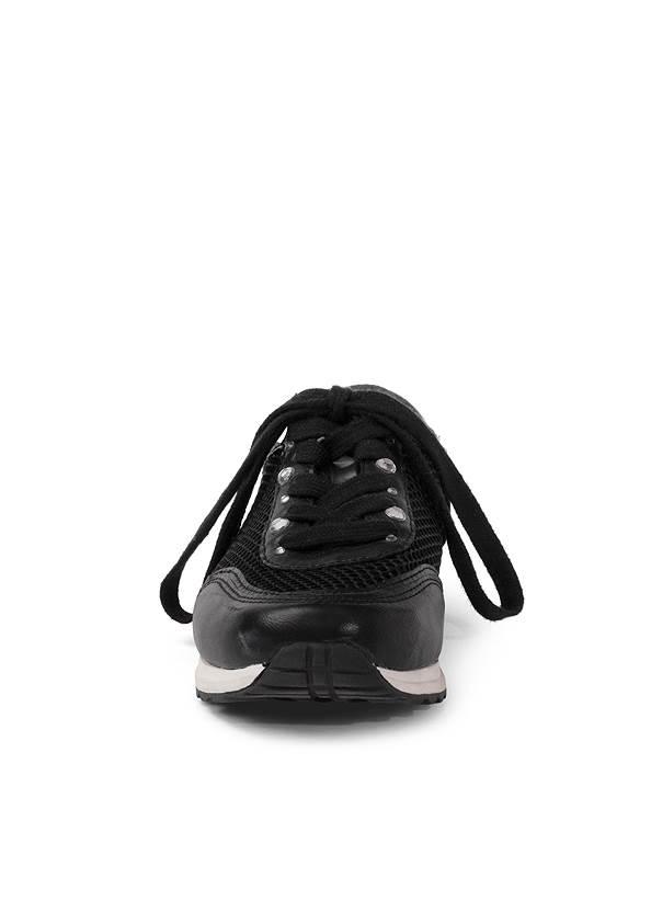 Shoe series front view Rhinestone Net Sneakers