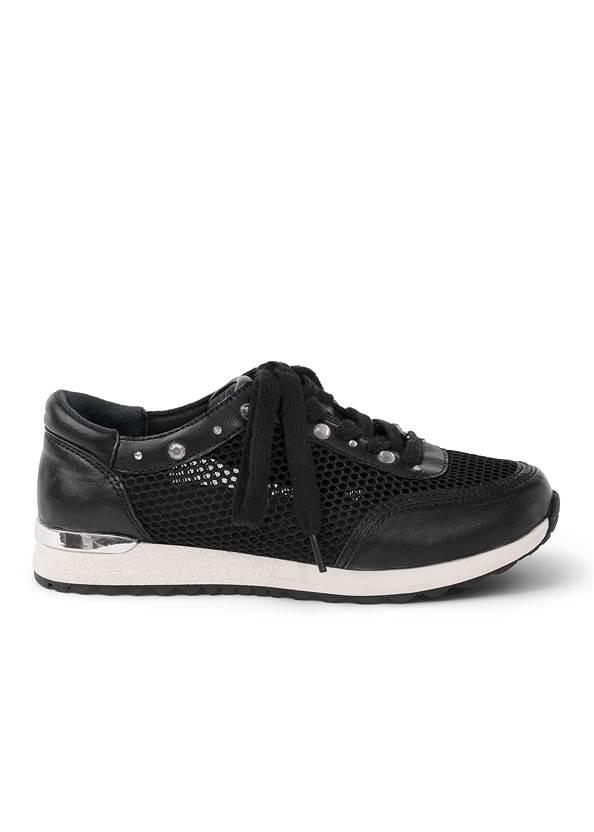 Shoe series side view Rhinestone Net Sneakers