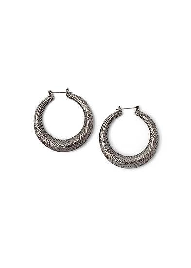 Etched Boho Hoop Earrings