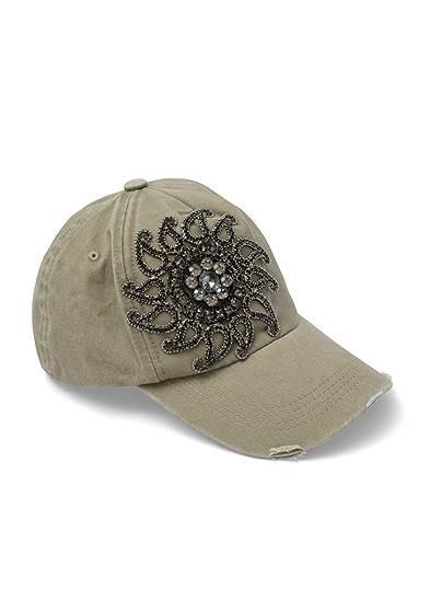 Distressed Embellished Hat