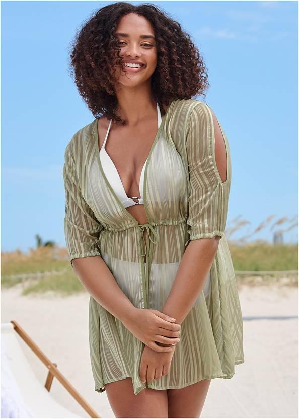 Glitter Lurex Coverup Dress,Marilyn Underwire Push Up Halter Top,Enhancer Triangle Top ,Full Coverage Mid Rise Hipster Bikini Bottom,Slimming Bandeau One-Piece