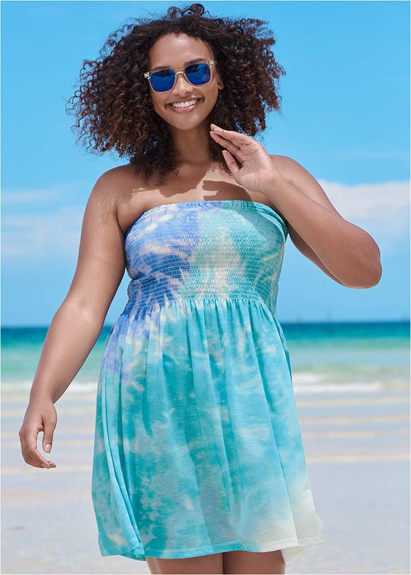 Convertible Dress/Skirt,Marilyn Underwire Push Up Halter Top,Full Coverage Mid Rise Hipster Bikini Bottom,Slimming Bandeau One-Piece