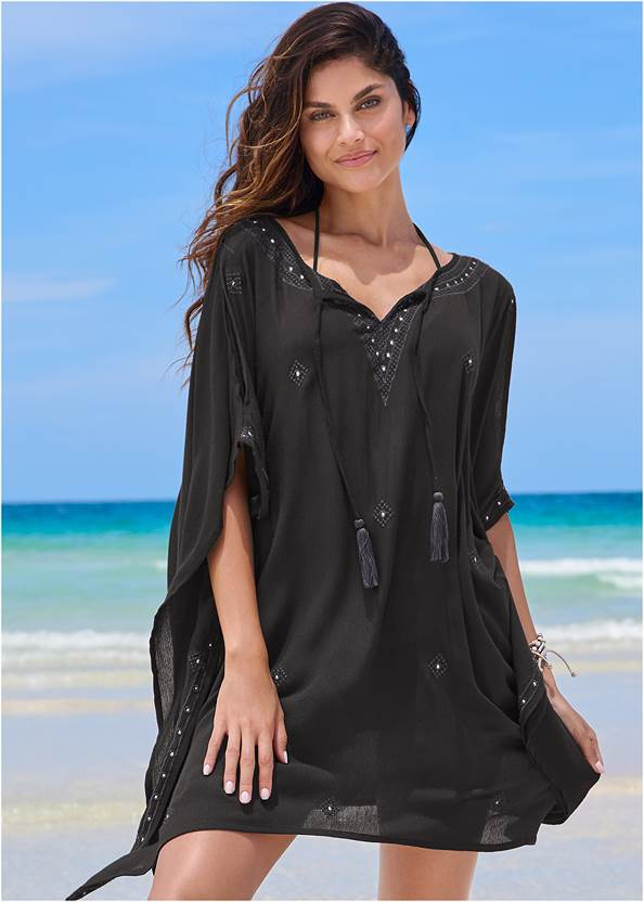 Full front view Boho Beach Tunic Cover-Up