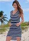 Full Front View Hooded Beach Dress