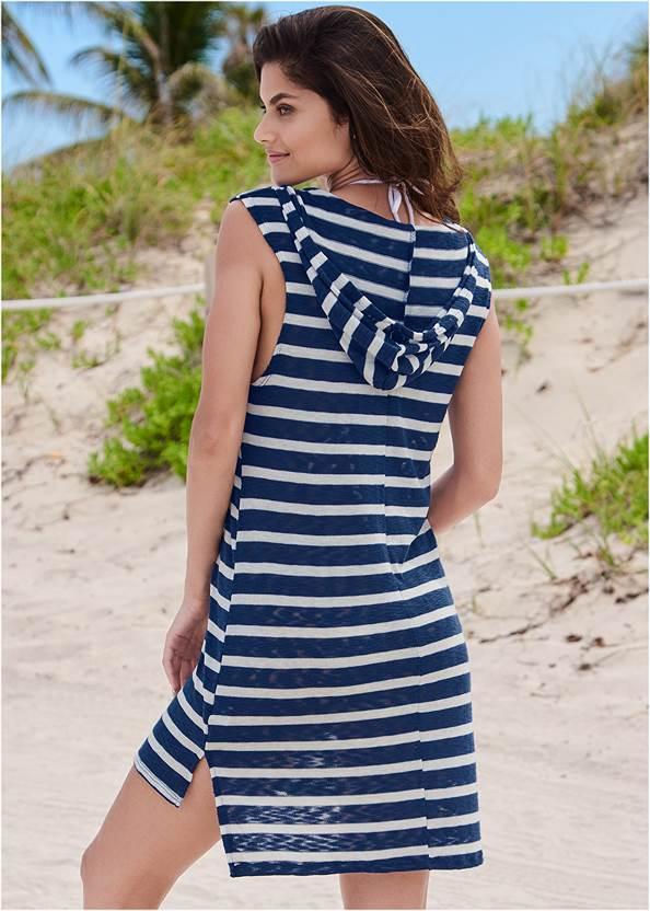 Full back view Hooded Beach Dress