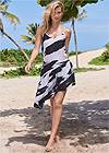 Front View Asymmetrical Cover-Up Dress