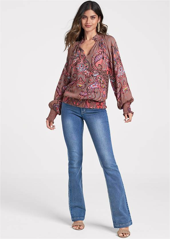 Full front view Paisley Top