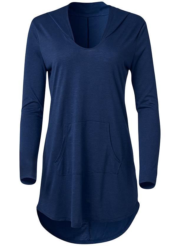 Alternate View Long Sleeve Hooded Beach Dress