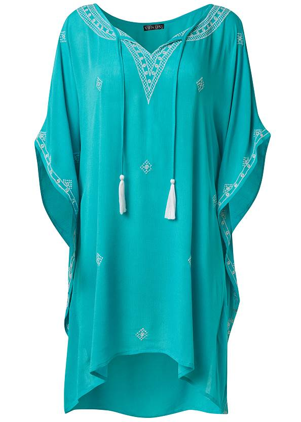 Ghost with background  view Boho Beach Tunic Cover-Up