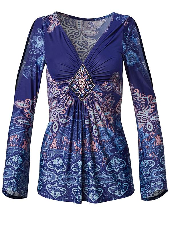 Alternate View Embellished Paisley Top
