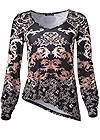 Ghost with background  view Cold Shoulder Print Top