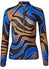 Ghost with background  view Multicolor Tiger Print Top