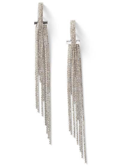Rhinestone Tassel Earrings