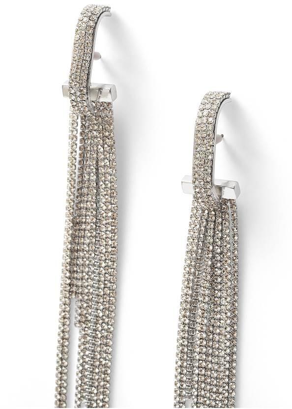 Detail  view Rhinestone Tassel Earrings