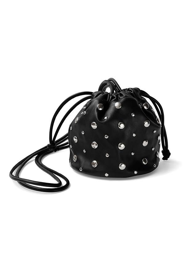 Full  view Studded Mini Bucket Bag