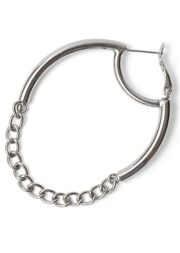 Detail  view Chain Detail Hoop Earrings