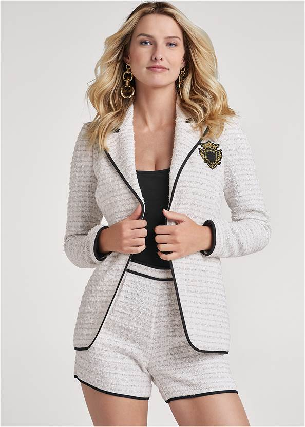 Lined Tweed Short Suit Set