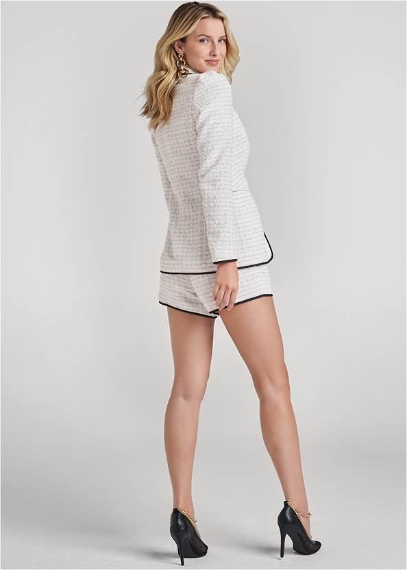 Alternate View Lined Tweed Short Suit Set