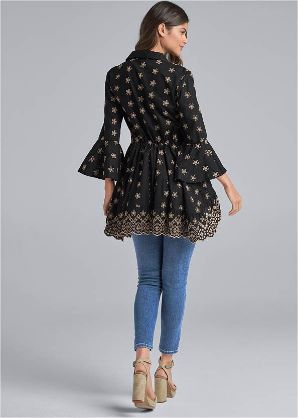Back View Eyelet High Low Top